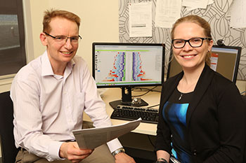 Associate Professor James Scott and Dr Holly Erskine