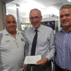 Forest Lake Golf Club presents cheque to the PRC